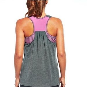 CALIA by Carrie Underwood Double Layer Tank Sz L